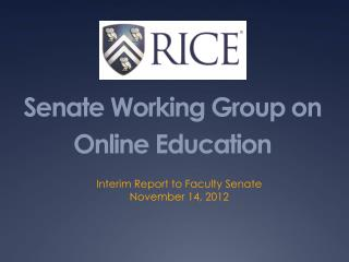 Senate Working Group on Online Education