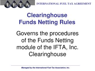Clearinghouse Funds Netting Rules