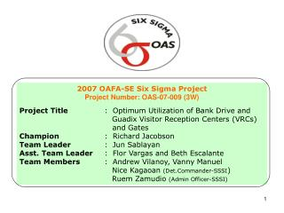 2007 OAFA-SE Six Sigma Project  Project Number: OAS-07-009 (3W)