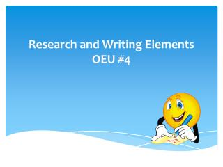 Research and Writing Elements OEU #4
