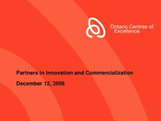 Partners in Innovation and Commercialization