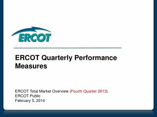 ERCOT Quarterly Performance Measures