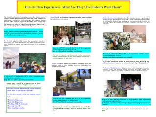 Out-of-Class Experiences: What Are They? Do Students Want Them?