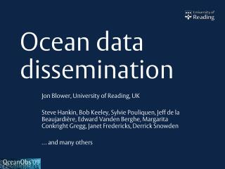 Ocean data dissemination