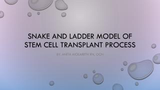 Snake and ladder model of stem cell transplant process