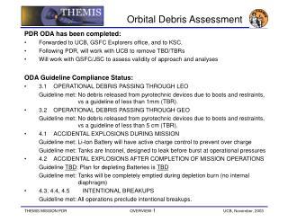 Orbital Debris Assessment