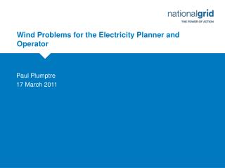 Wind Problems for the Electricity Planner and Operator