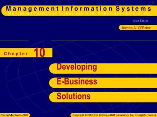 Developing E-Business Solutions
