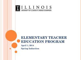 ELEMENTARY TEACHER EDUCATION PROGRAM