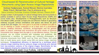 Cloud-based 3D Reconstruction of Cultural Heritage Monuments using Open Access Image Repositories