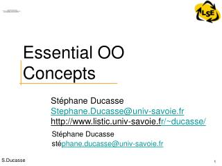 Essential OO Concepts