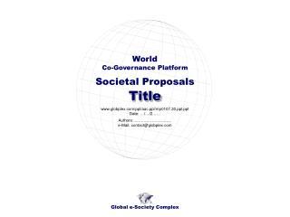 Societal Proposals