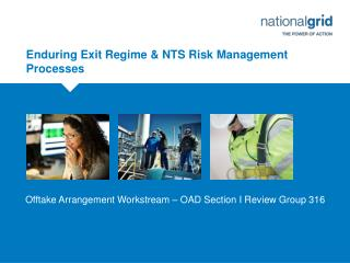Enduring Exit Regime & NTS Risk Management Processes