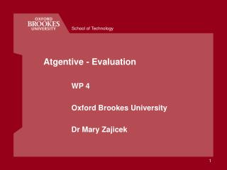Atgentive - Evaluation