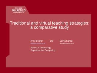 Traditional and virtual teaching strategies:   a comparative study