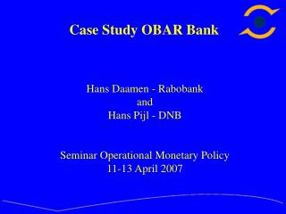 Case Study OBAR Bank