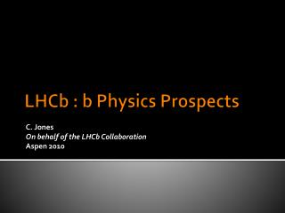 LHCb :  b  Physics Prospects