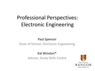 Professional Perspectives:  Electronic Engineering