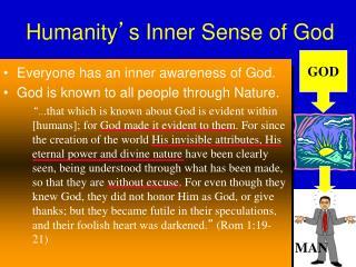Humanity � s Inner Sense of God