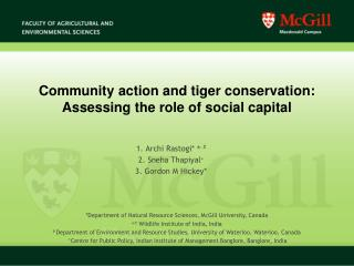 Community action and tiger conservation: Assessing the role of social capital