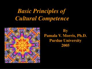 Basic Principles of  Cultural Competence