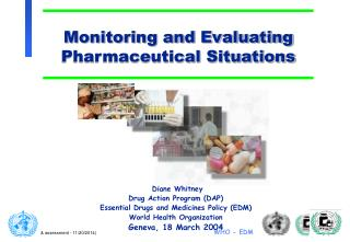 Monitoring and Evaluating Pharmaceutical Situations