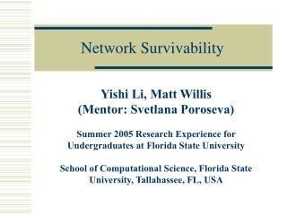 Network Survivability