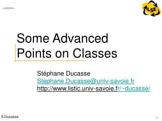 Some Advanced Points on Classes
