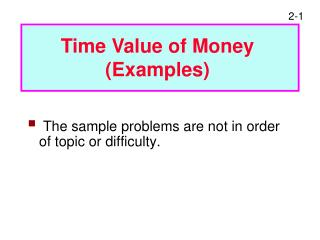 The sample problems are not in order of topic or difficulty.