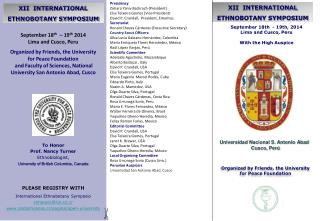 XII  INTERNATIONAL ETHNOBOTANY SYMPOSIUM