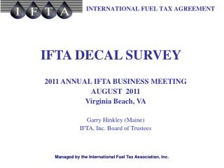 IFTA DECAL SURVEY