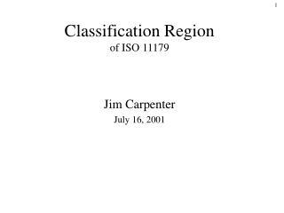 Classification Region of ISO 11179