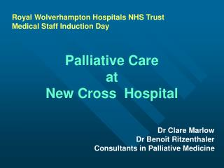 Royal Wolverhampton Hospitals NHS Trust Medical Staff Induction Day