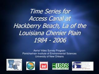 Time Series for Access Canal at Hackberry Beach, La of the  Louisiana Chenier Plain 1984 - 2006