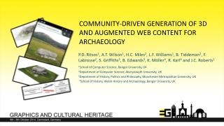 Community-driven generation of 3D and augmented web content for archaeology