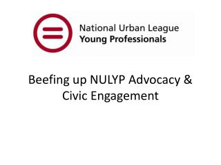Beefing up NULYP Advocacy & Civic Engagement