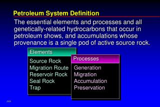 Petroleum System Definition