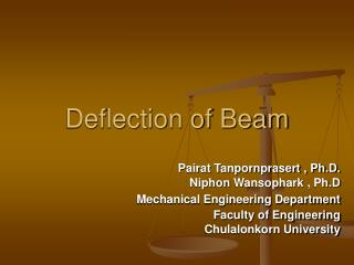 Deflection of Beam