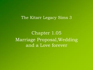 The Kitarr Legacy Sims 3