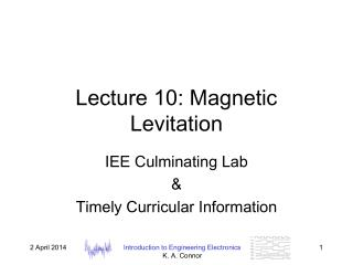 Lecture 10: Magnetic Levitation