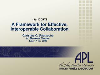 A Framework for Effective, Interoperable Collaboration