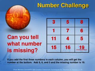 Can you tell what number is missing?