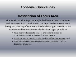 Description of Focus Area