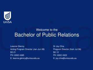 Welcome to the Bachelor of Public Relations