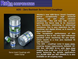 ADS – Zero Backlash Servo Insert Couplings