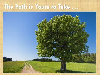 The Path is Yours to Take …