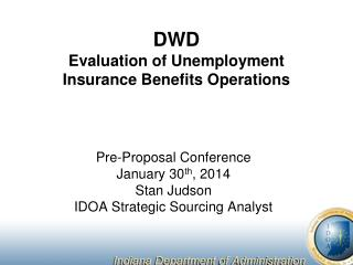 DWD Evaluation of Unemployment Insurance Benefits Operations