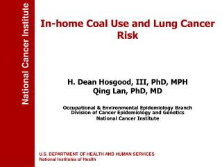 In-home Coal Use and Lung Cancer Risk