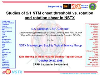 Studies of 2/1 NTM onset threshold vs. rotation and rotation shear in NSTX