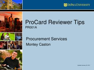 ProCard Reviewer Tips PR001A